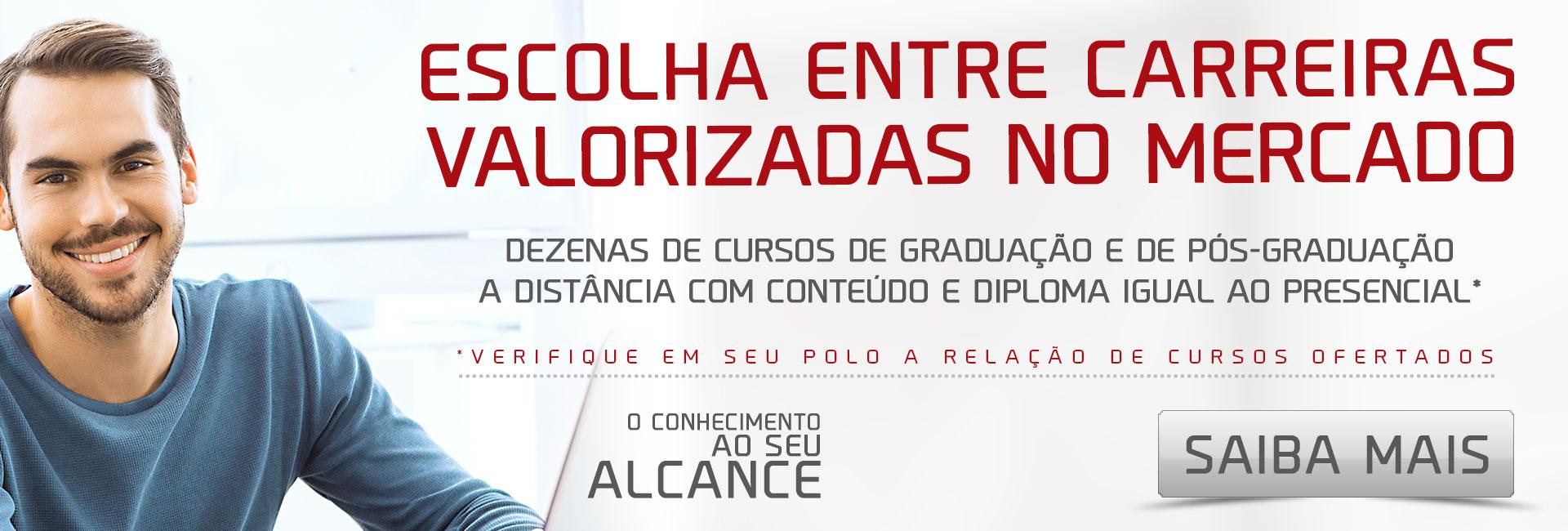 Escolha entre 20 cursos de graduação