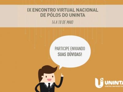 IX Encontro Virtual Nacional de Polos aproxima UNINTA dos seus polos de EAD