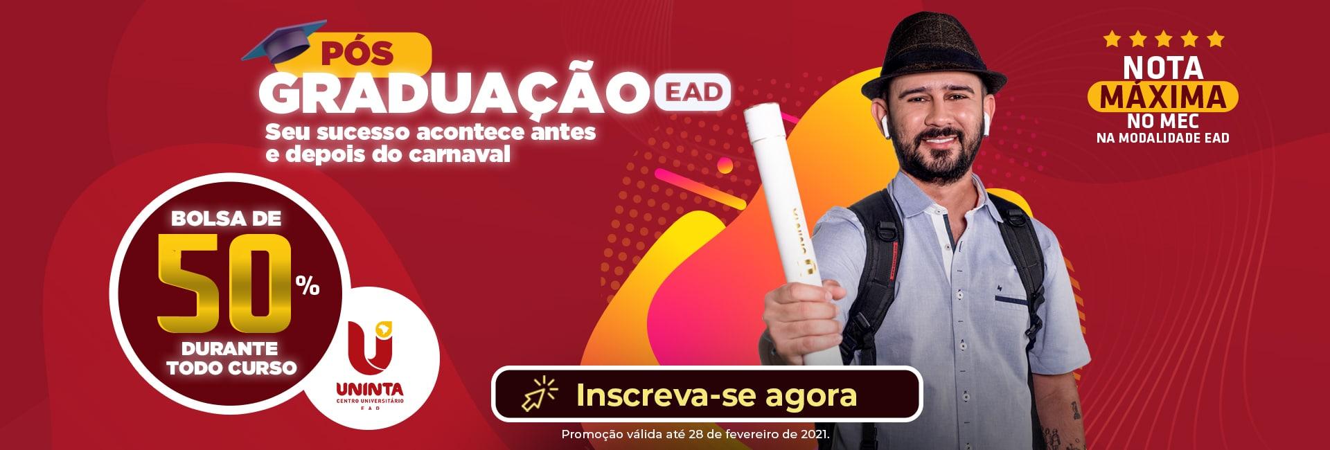UNINTA EAD pós-graduação carnaval BANNER SITE
