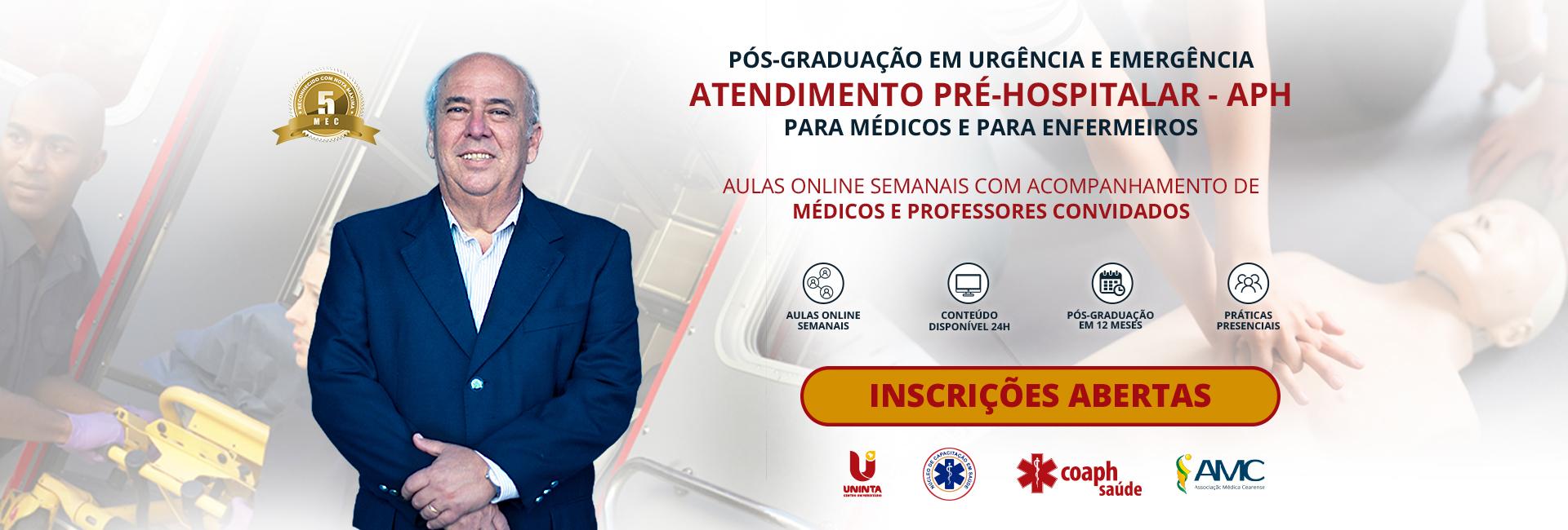 Pós-graduação em Urgência e Emergência - Atendimento Pré-hospitala - APH