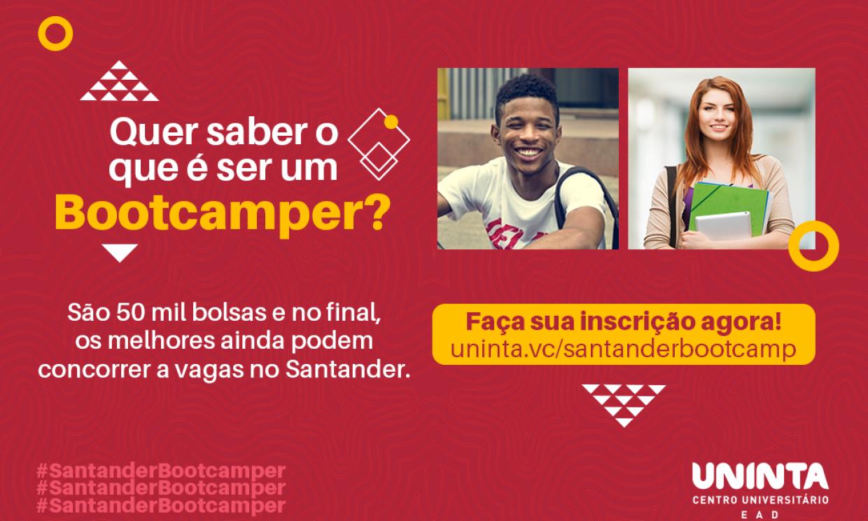 Bolsa Santander Bootcamp: inscrições abertas para Curso de aprimoramento em Tecnologia da Informação